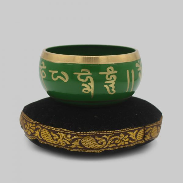 Buy green Tibetan Singing Bowl